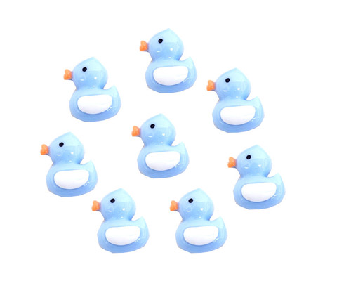 """3/4"""" Blue Mini Plastic Polyresin Duck for Baby Shower Favors and Decoration - Pack of 100 Pieces"""