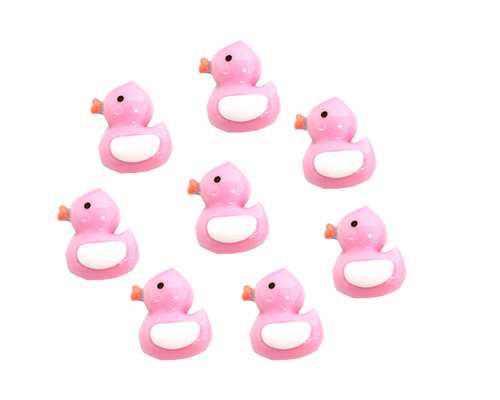 """3/4"""" Pink Mini Plastic Polyresin Duck for Baby Shower Favors and Decoration - Pack of 100 Pieces"""