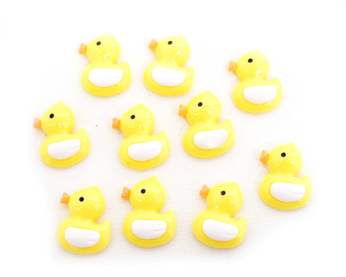 "3/4"" Yellow Mini Plastic Polyresin Duck for Baby Shower Favors and Decoration - Pack of 100 Pieces"