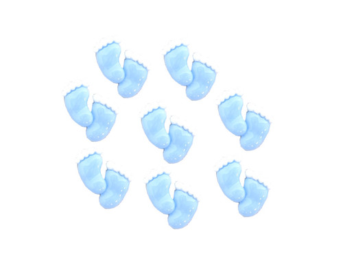 """3/4"""" Blue Mini Polyresin Feet for Baby Shower Favors and Decoration - Pack of 100 Pieces"""