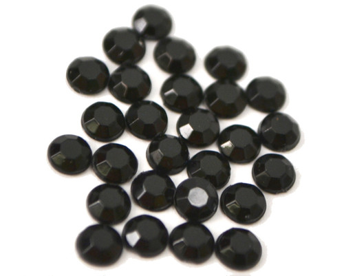 Black 4mm SS16  Wholesale Flat Back Acrylic Rhinestones - Pack of 1,000 Pieces