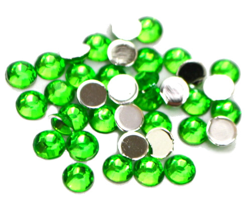 Apple Green 4mm SS16  Wholesale Flat Back Acrylic Rhinestones - Pack of 1,000 Pieces