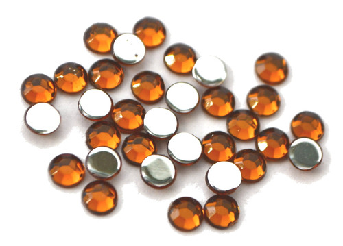 Brown 4mm SS16  Wholesale Flat Back Acrylic Rhinestones - Pack of 1,000 Pieces