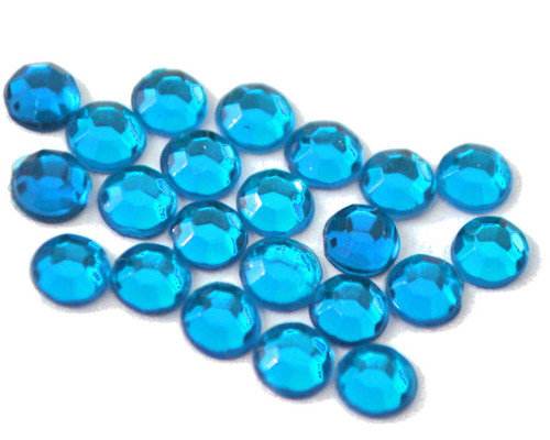 Turquoise 4mm SS16  Wholesale Flat Back Acrylic Rhinestones - Pack of 1,000 Pieces