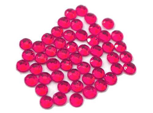 Fuchsia 4mm SS16  Wholesale Flat Back Acrylic Rhinestones - Pack of 1,000 Pieces