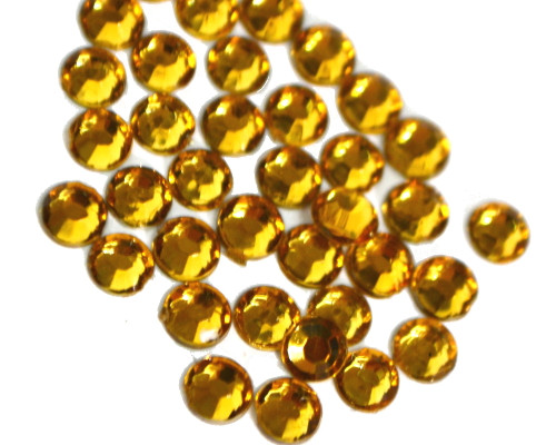 Gold 4mm SS16  Wholesale Flat Back Acrylic Rhinestones - Pack of 1,000 Pieces