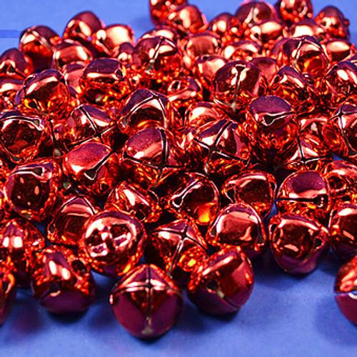 "1"" Red Metal Jingle Bells - Pack of 100"