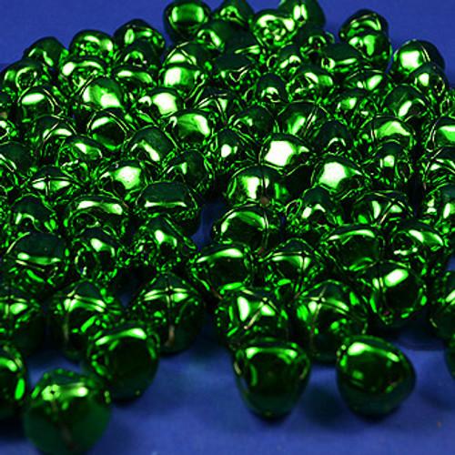 "1"" Emerald Metal Jingle Bells - Pack of 100"