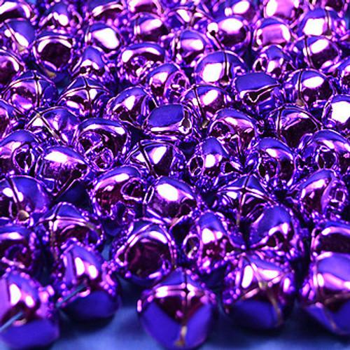 """1 3/4"""" Purple Metal Jingle Bells - Pack of 20"""