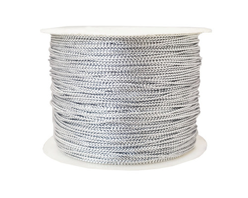 "1/16"" x 144 Yards Silver Metallic Tinsel Cord Rope - Pack of 5 Rolls"