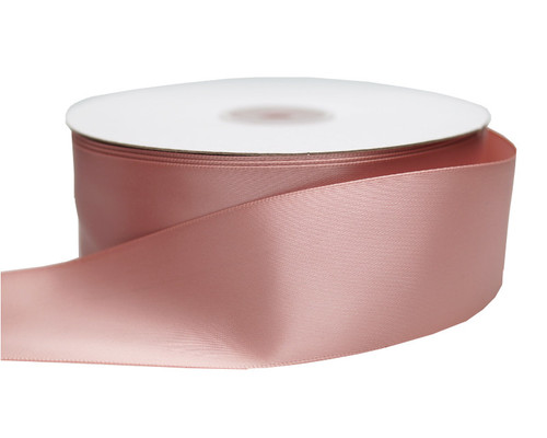 "1.5"" x 50 yards Blush Polyester Satin Gift Ribbon - Pack of 5 Rolls"