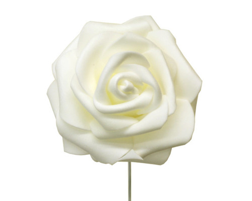 "2 3/4"" Ivory Rose Foam Flowers - Pack of 120 Pieces"