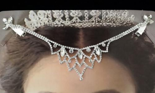Silver Bridal Rhinestone Forehead Fashion Chain Headpiece - Pack of 3 (TL072)