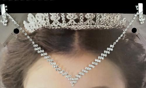 Silver Bridal Rhinestone Forehead Fashion Chain Headpiece - Pack of 3 (TM080)