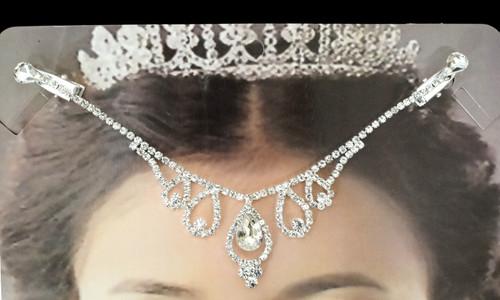 Silver Bridal Rhinestone Forehead Fashion Chain Headpiece - Pack of 3 (TM085)