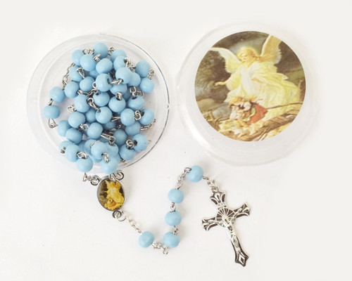 "19"" Blue Scented Wood Rosary Favors - Pack of 12"