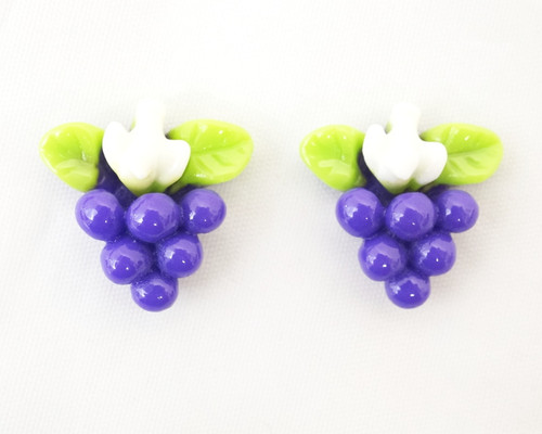"3/4"" Purple Mini Plastic Grape Cluster - Pack of 100 Pieces"