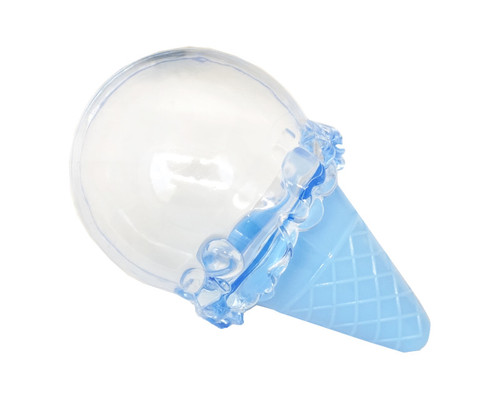 "4"" x 2.5"" Blue Fillable Ice Cream Cone Plastic Favor - Pack of 12"