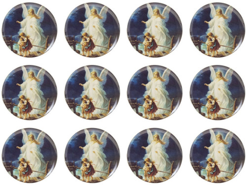 "1.1"" Round Soft Silicon Guardian Angel Sticker - Pack of 200 Stickers"