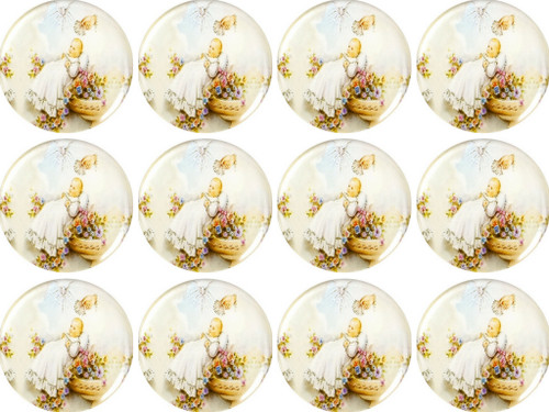 "1.1"" Round Soft Silicon Baptism Sticker - Pack of 200 Stickers"