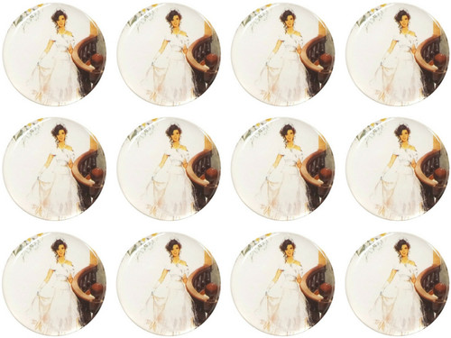 "1.1"" Round Soft Silicon Mis Quince Anos Sticker - Pack of 200 Quiceanera Stickers"