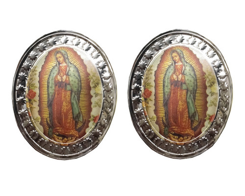 Oval Virgin de Guadalupe Sticker   - Pack of 140 Stickers