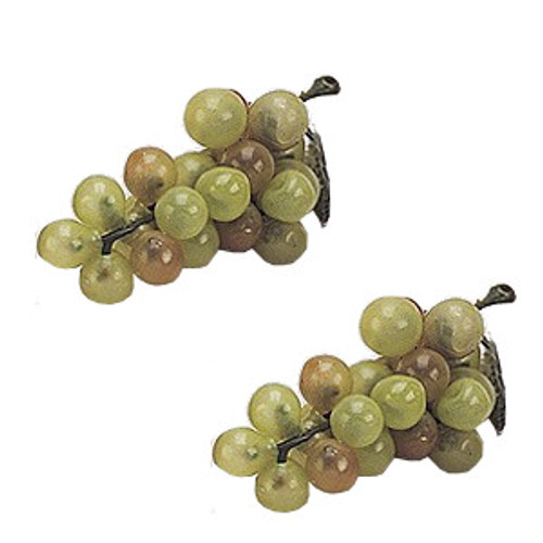 """2 3/4"""" Green Artificial Grapes - Pack of 120  Plastic Grape Clusters"""