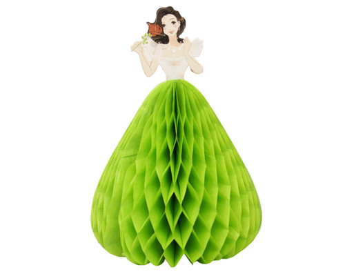 "5.5"" Apple Green Quinceanera Paper Doll Favor - Pack of 12"