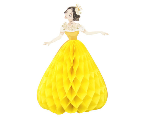 "5.5"" Yellow Quinceanera Paper Doll Favor - Pack of 12"