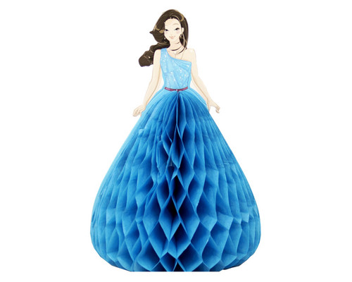 "5.5"" Turquoise Quinceanera Paper Doll Favor - Pack of 12"