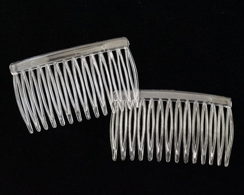 "2 3/4"" Clear Plastic Hair Comb - Pack of 72 Side Combs"