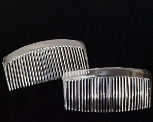 "5.5"" Clear Plastic Hair Comb - Pack of 72 Side Combs"