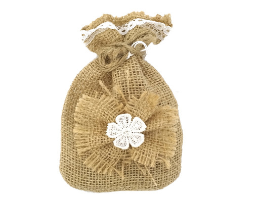 "4"" x 6"" Rustic Lace Favor Pouch Bags - Pack of 12  Bags"