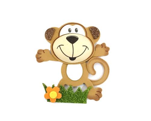"""3.75"""" Brown 3D Monkey Foamy  - Pack of 12 Foam Animal Decoration"""