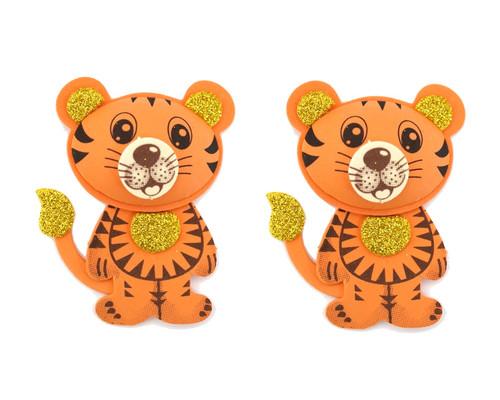 "2.75"" 3D Tiger Foamy  - Pack of 12 Foam Animal Decoration"