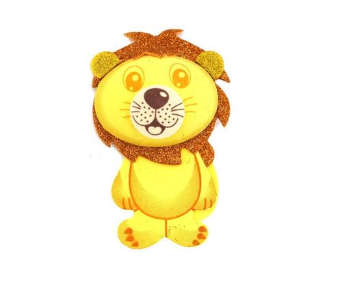 """3.75"""" 3D Lion Foamy  - Pack of 12 Foam Animal Decoration"""