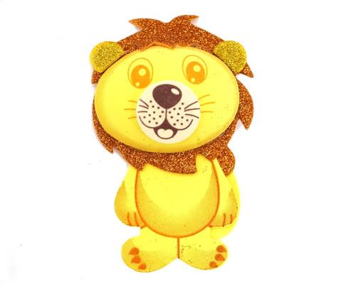 """7.25"""" 3D Lion Foamy  - Pack of 6 Foam Animal Decoration"""