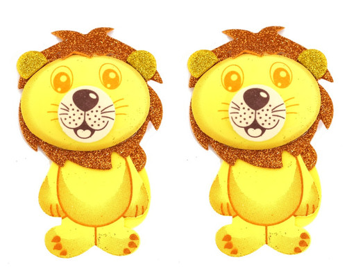 "2.75"" 3D Lion Foamy  - Pack of 12 Foam Animal Decoration"