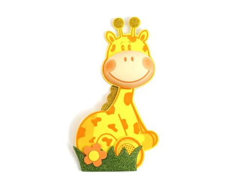 """4"""" 3D Giraffe Foamy  - Pack of 12 Foam Animal Decoration"""