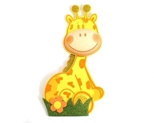 """8.5"""" 3D Giraffe Foamy  - Pack of 6 Foam Animal Decoration"""