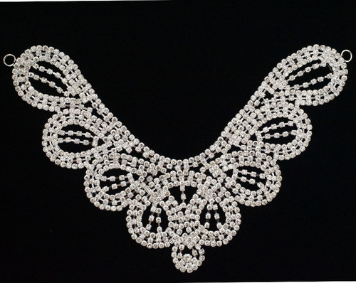 Crystal Rhinestone Collar Bridal Trim - 1 Applique