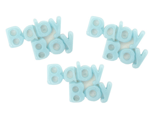 "1"" Blue Baby Boy Baby Shower Mini Plastic Polyresin   - Pack of 100 Pieces"