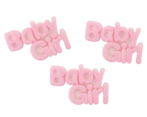 "1"" Blue Baby Girl Baby Shower Mini Plastic Polyresin   - Pack of 100 Pieces"