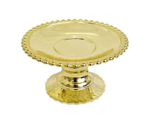 "4.5"" Gold Round Wedding Candle Holder - Pack of 6"