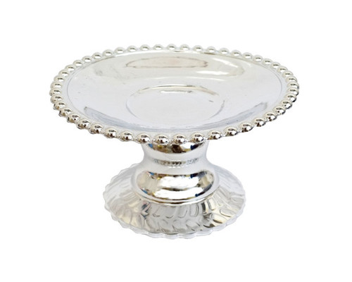 "4.5"" Silver Round Wedding Candle Holder - Pack of 6"