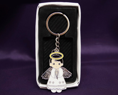 Angel Boy First Communion Keychain - Pack of 12