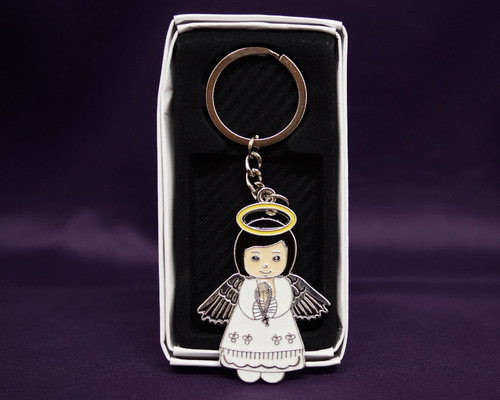 Angel Girl First Communion Keychain - Pack of 12