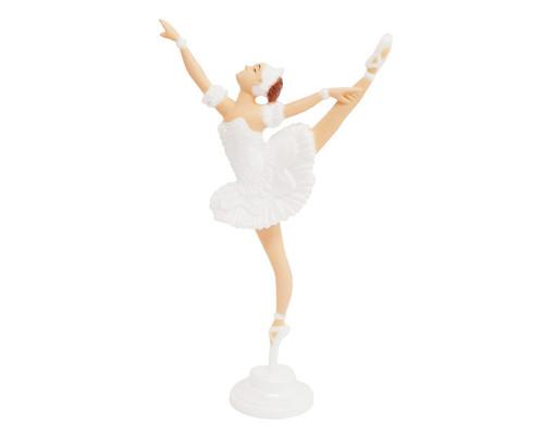 White Dancing Ballerina Cake Topper - Pack of 10