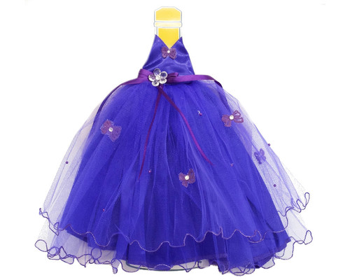 Purple Quinceanera Champagne Bottle Dress - Pack of 3
