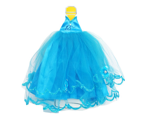 Turquoise Quinceanera Champagne Bottle Dress - Pack of 3